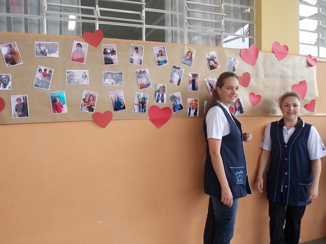 Homenagem as mulheres da escola
