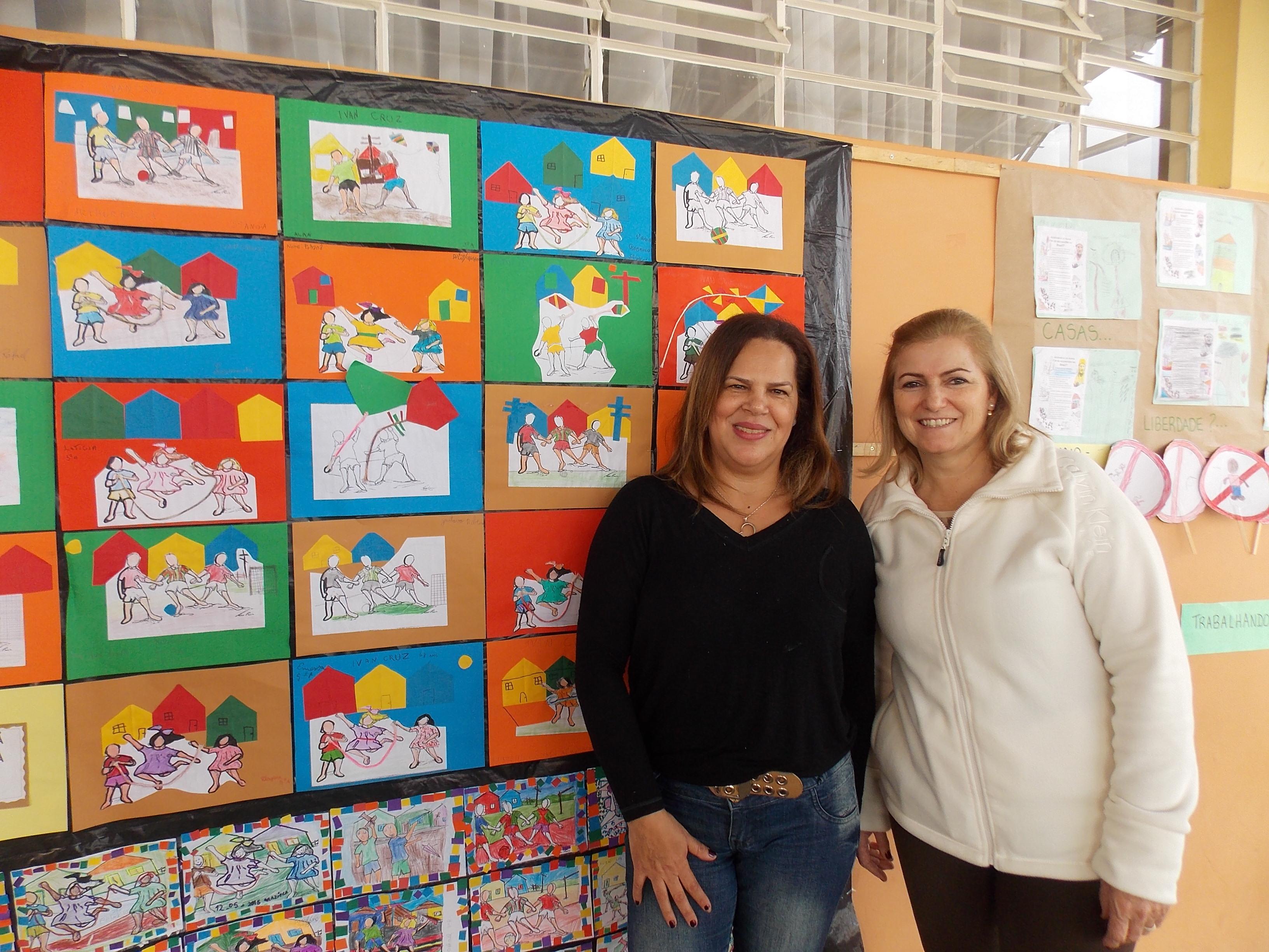Exposição e amostra dos trabalhos das professoras de arte - Norma e Paula
