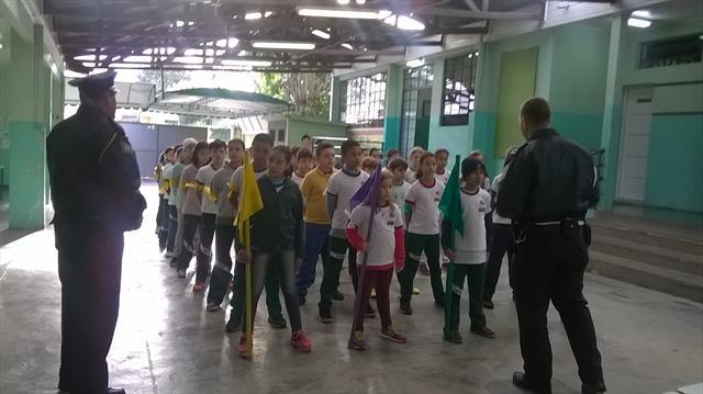 Programa da Guarda Municipal com os Guardas Mirins