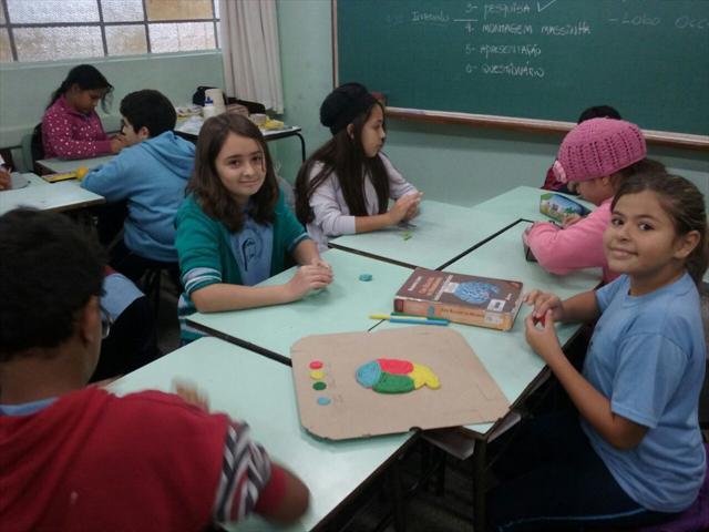 """Intervenção """"Neuromodelando"""" realizada com os alunos dos 5ºs anos"""