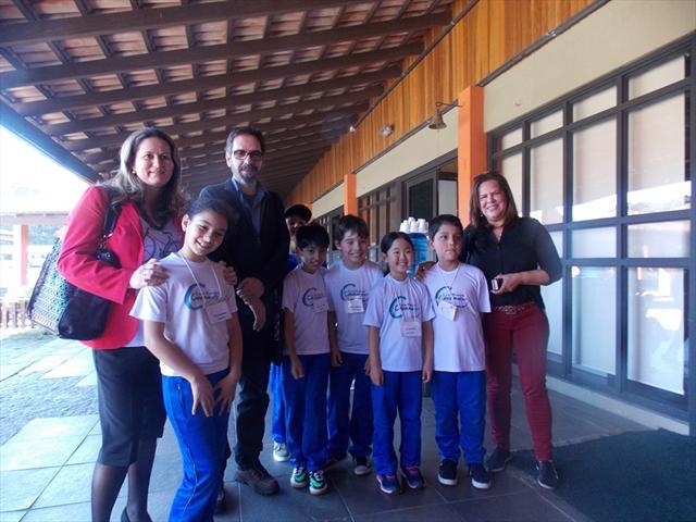 Com a Secretária de Educação e o jornalista José C