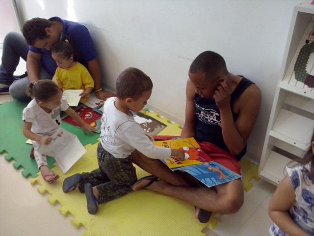 Nossas famílias integrando-se ao CMEI