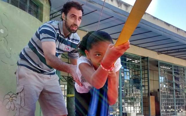 Slackline é diversão para aulas de Educação Física