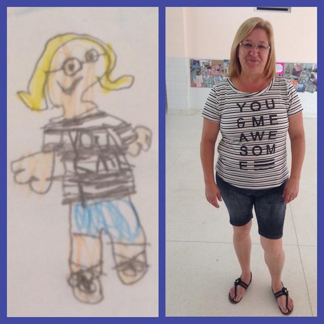 Desenhando a Professora Silvana