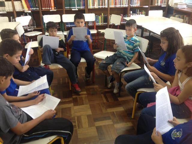 A leitura sempre presente em nossa escola.