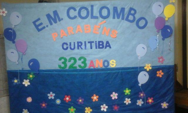 CEREJA E. M. Colombo parabeniza a cidade de Curitiba