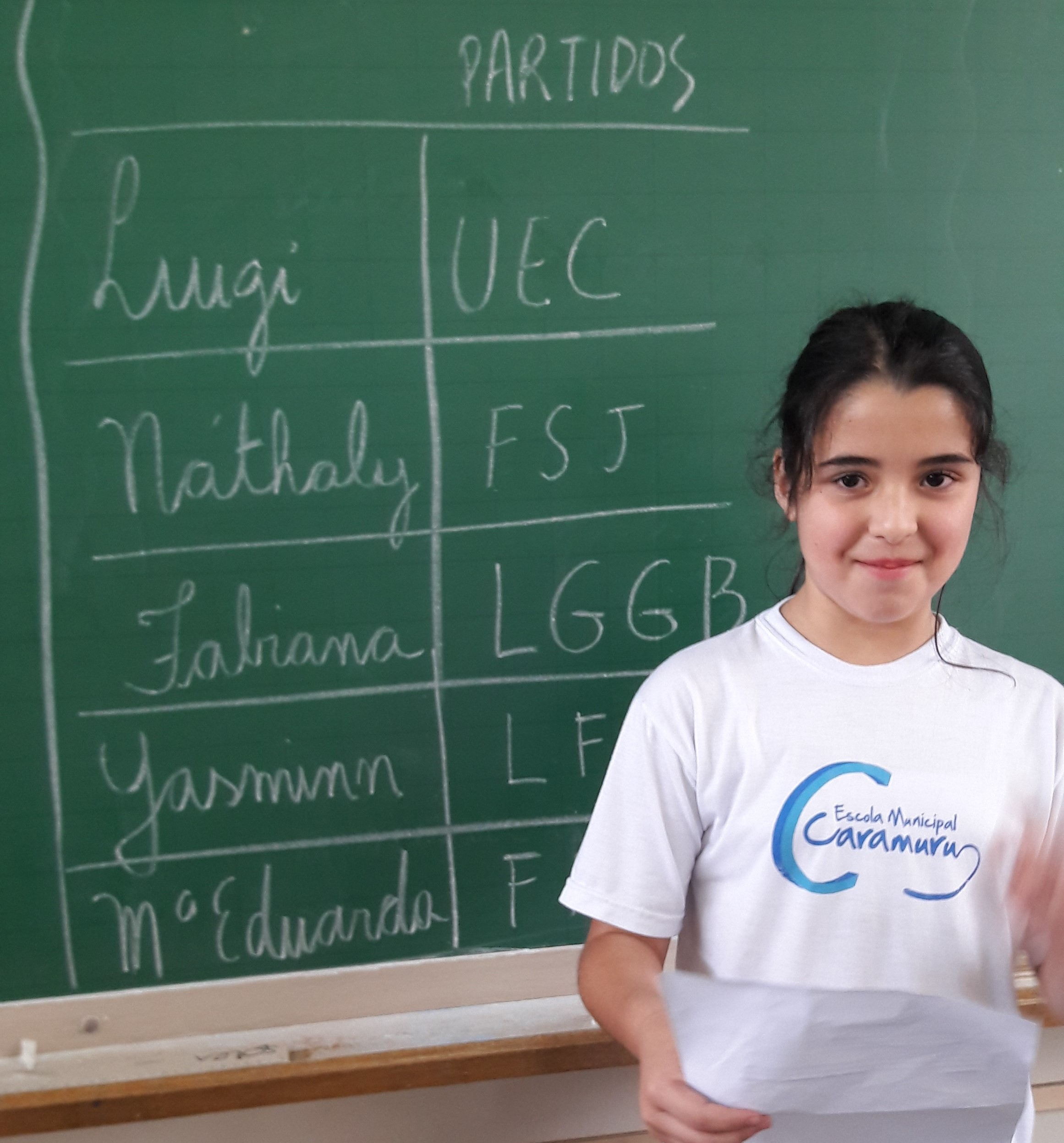 Maria Eduarda fazendo sua proposta política