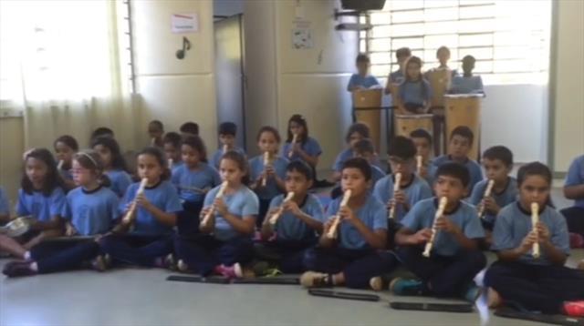 Flauta e Percussão 4º Ano A