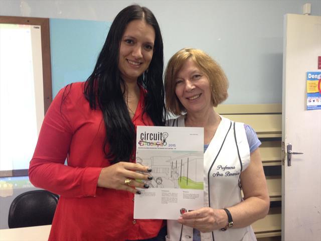 Professora Priscila e Diretora Ana Berenice