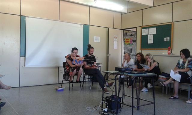 Roda de leitura: 1ª OTP de 2016 - Escola Municipal CEI David Carneiro