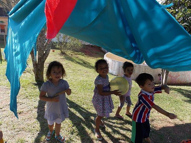 Proposta desenvolvida pela turma do Maternal II na área de formação - Linguagem Movimento