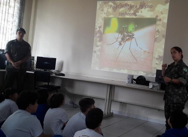 Atividades em sala sobre o mosquito Aedes Aegypti