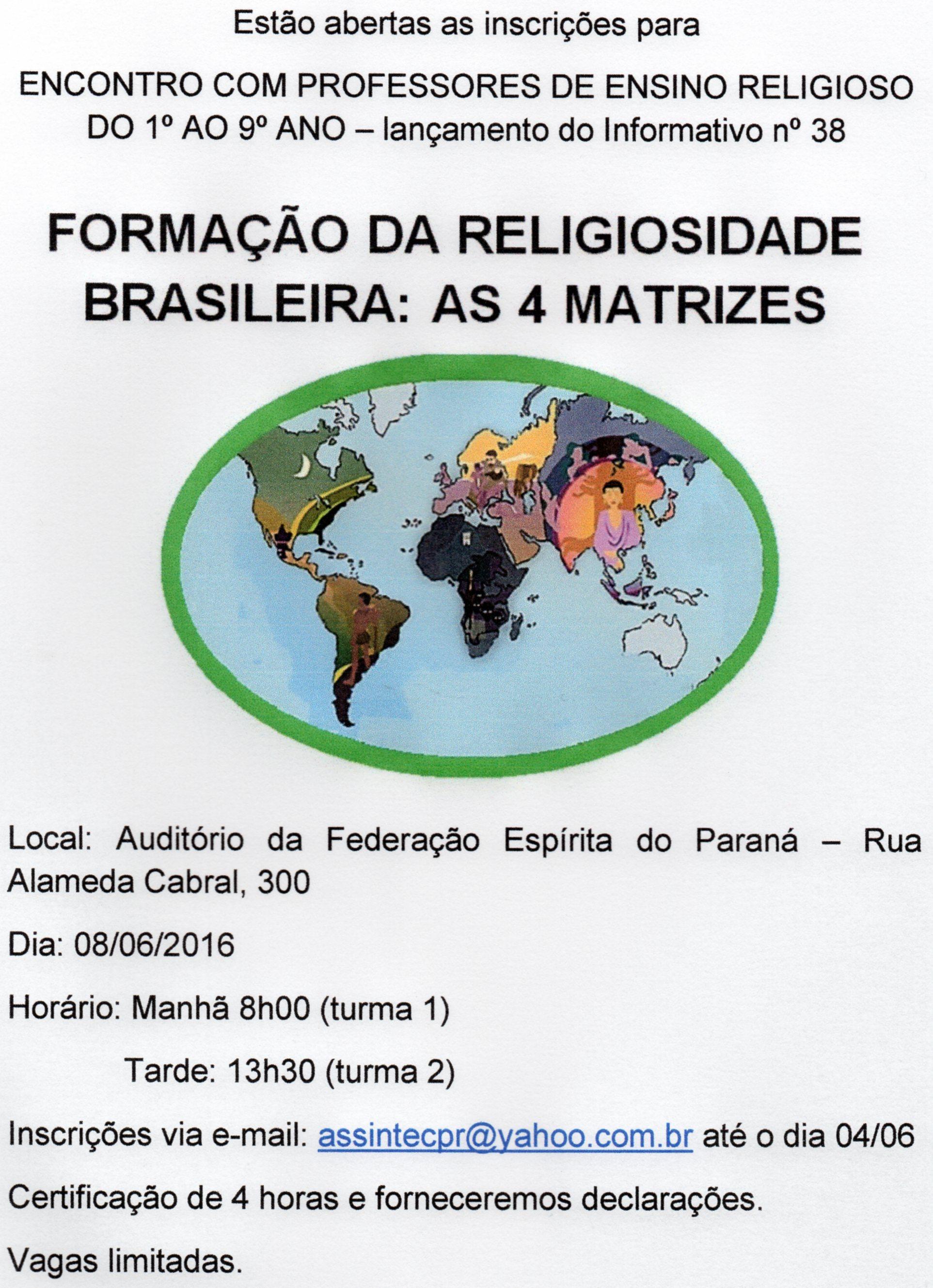 Formação Ensino Religioso