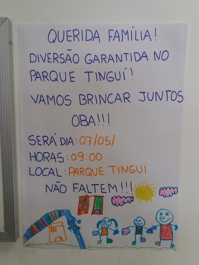 Sábado de integração do CMEI Profª Ada Pires de Oliveira