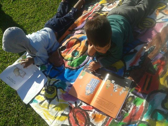 Piquenique Literário no CMEI Tiradentes
