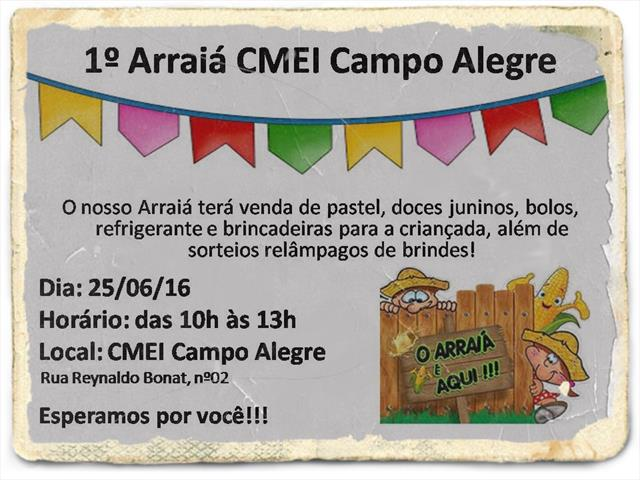 1º Arraiá CMEI Campo Alegre