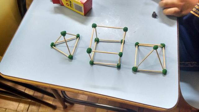 Alunos aprendem na prática sobre geometria