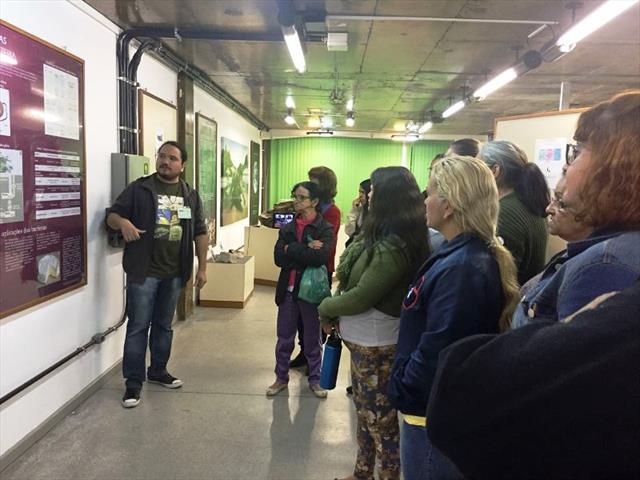 EJA visita o museu de ciências.