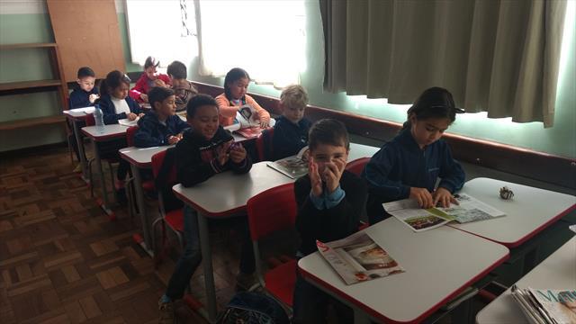 Brincadeira indígena é tema de aula no 2º ano B