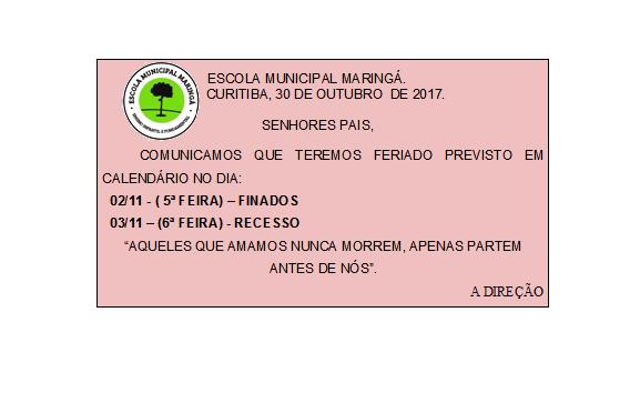 Bilhete Feriado Finados 2017