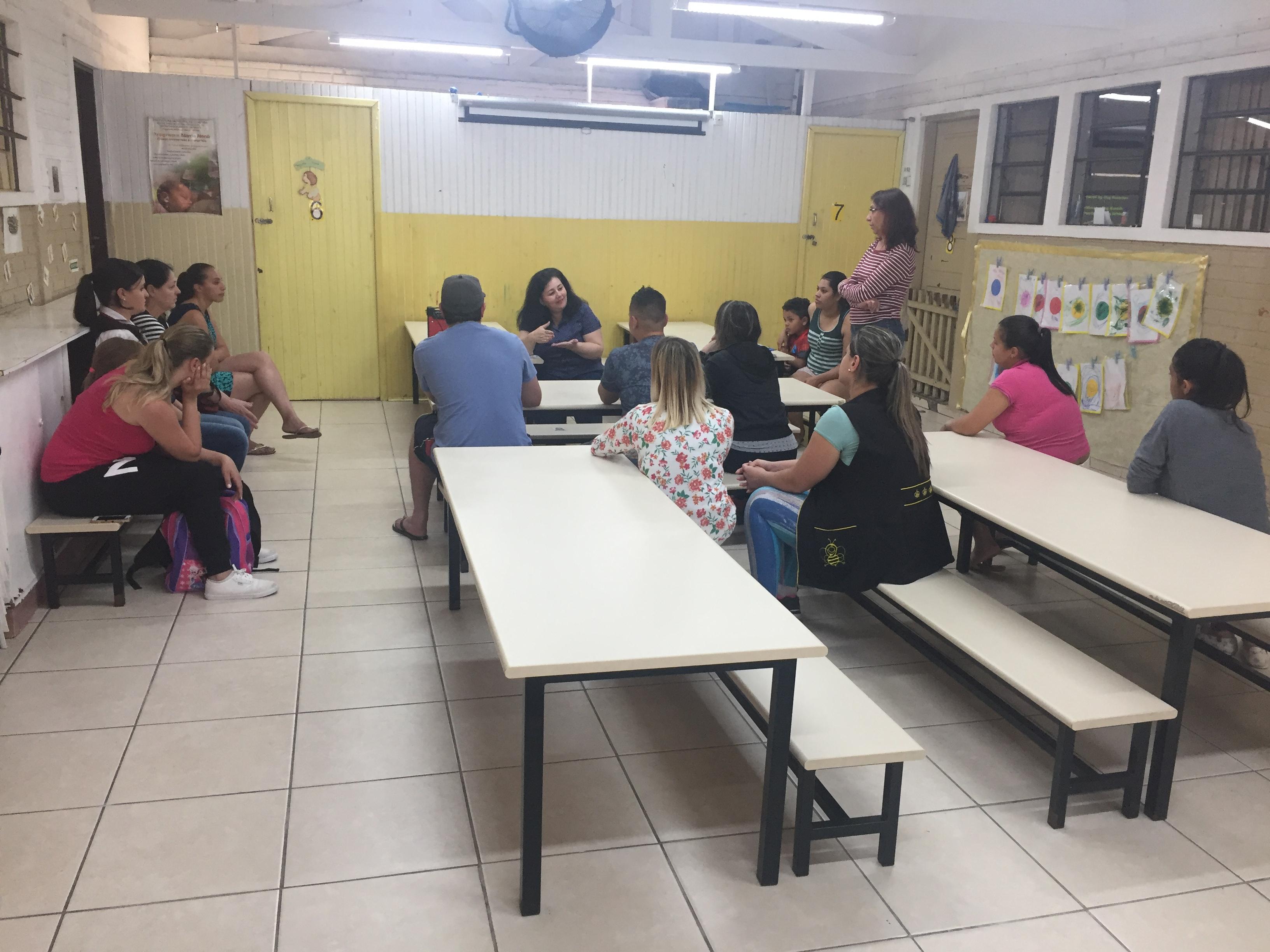 Reunião com as famílias para a transição