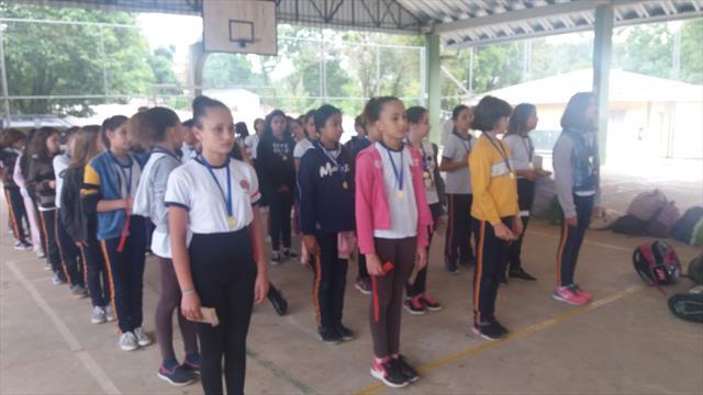 Acantonamento da Guarda Mirim na escola Mirazinha Braga
