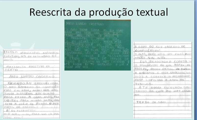 Reescrita de produção textual