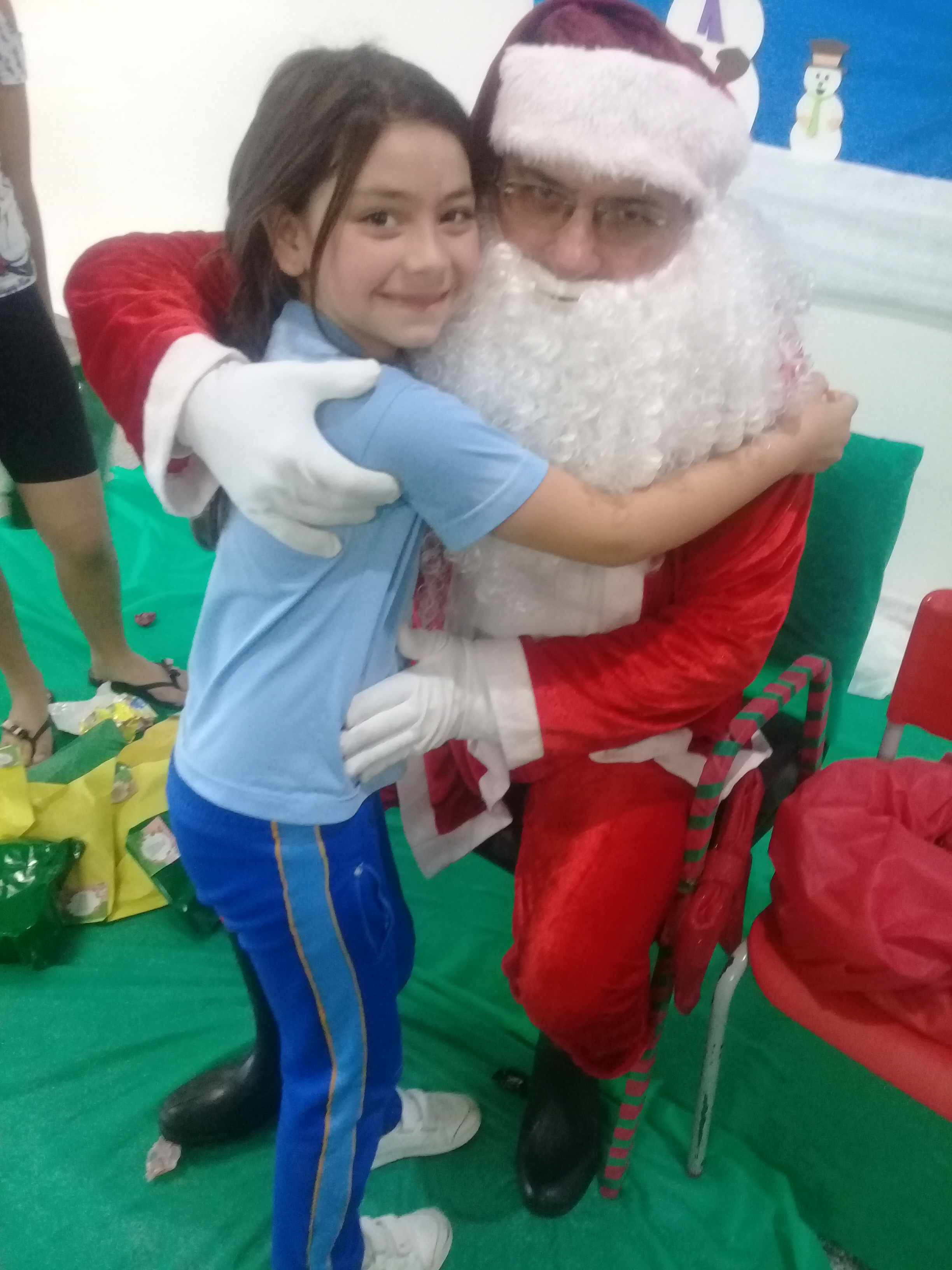 Visita do Papai Noel na escola