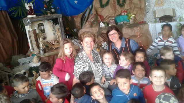 Cmei Vila Lorena visita o Presépio