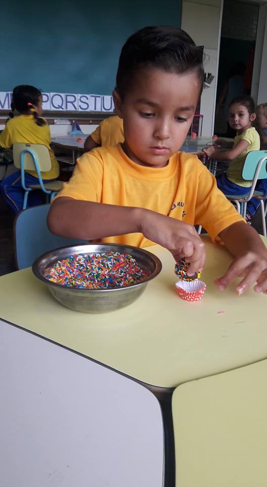 Estudantes do Pré vivenciam várias formas de aprendizado.