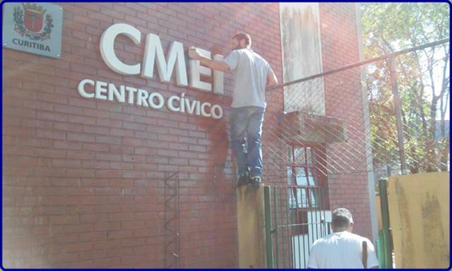 CMEI Centro Cívico realiza o 1º  Multirão para revitalização dos espaços