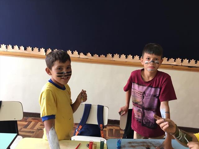 Estudantes do 4º ano A aprendem mais sobre a cultura africana.