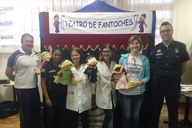 Teatro de Fantoches da Guarda Municipal contra o trabalho infantil e prevenção a pedofilia