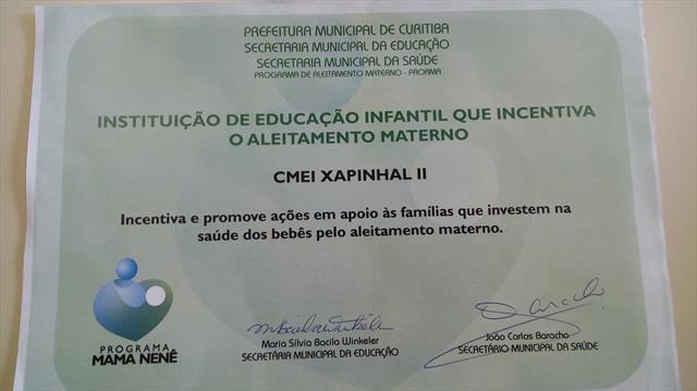 CERTIFICAÇÃO CMEI XAPINHAL II