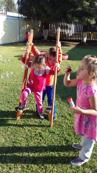 Integração para o brincar com as famílias