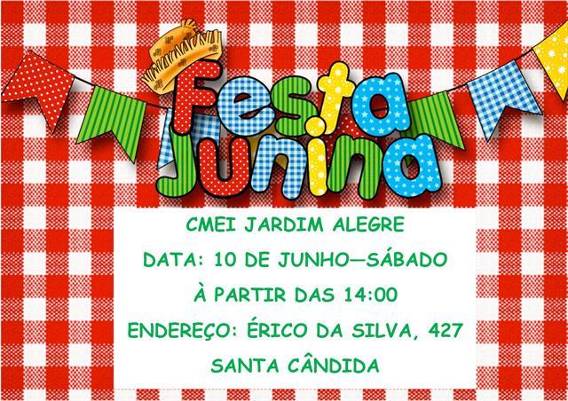 Convite Festa junina 2017