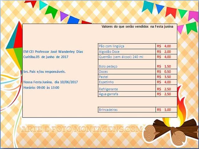 folder festa junina
