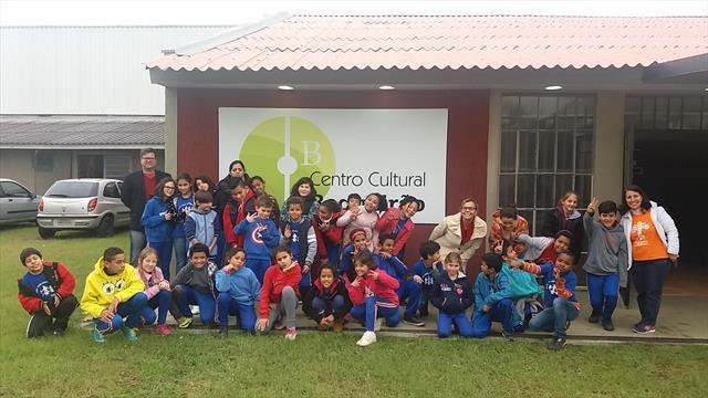 Aula de Campo com os alunos da UEI Germano Paciorn