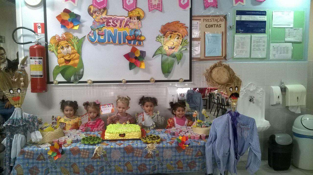 Festa  dos aniversariantes primeiro semestre  e Festa junina