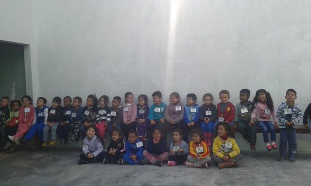 Chegada das crianças do CMEI Erondy Silvério no Bi