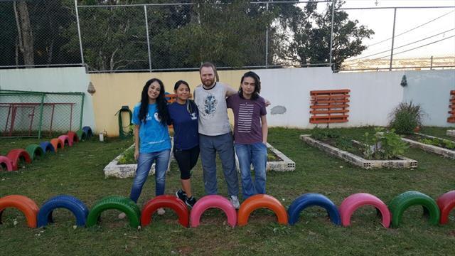 Acadêmicos da Universidade Federal no CMEI QUIELSE realizam trabalho voluntário