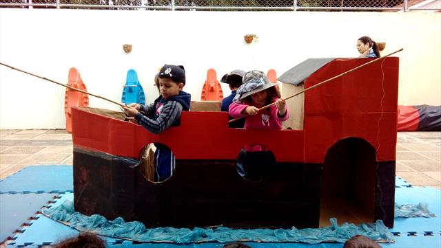 Pescando no barco pirata