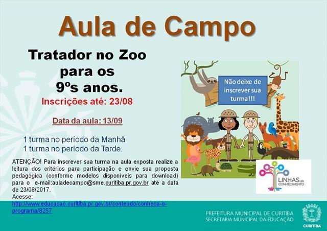 AULA DE CAMPO TRATADOR NO ZOO