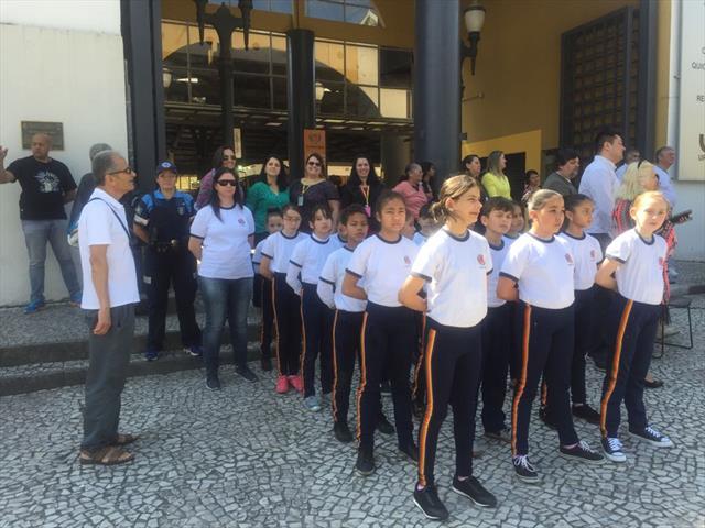 Desfile Cívico na Regional Matriz