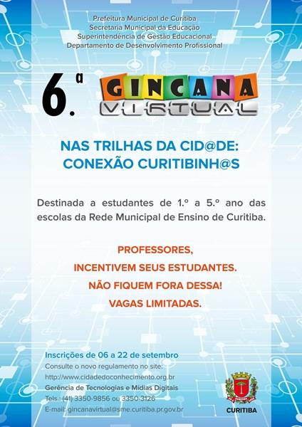 Convite da Gincana Virtual 2017