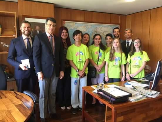embaixadores do futuro vão à Brasília.