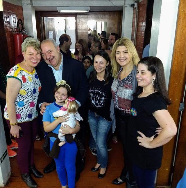 Visita do Prefeito Rafael Greca a Escola Municipal Campo Mourão