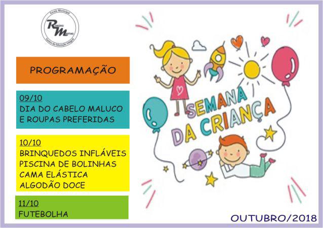 Semana das crianças na EM Romário Martins 2018