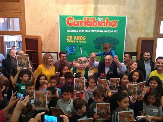 25 anos do personagem Curitibinha na Gibiteca de Curitiba