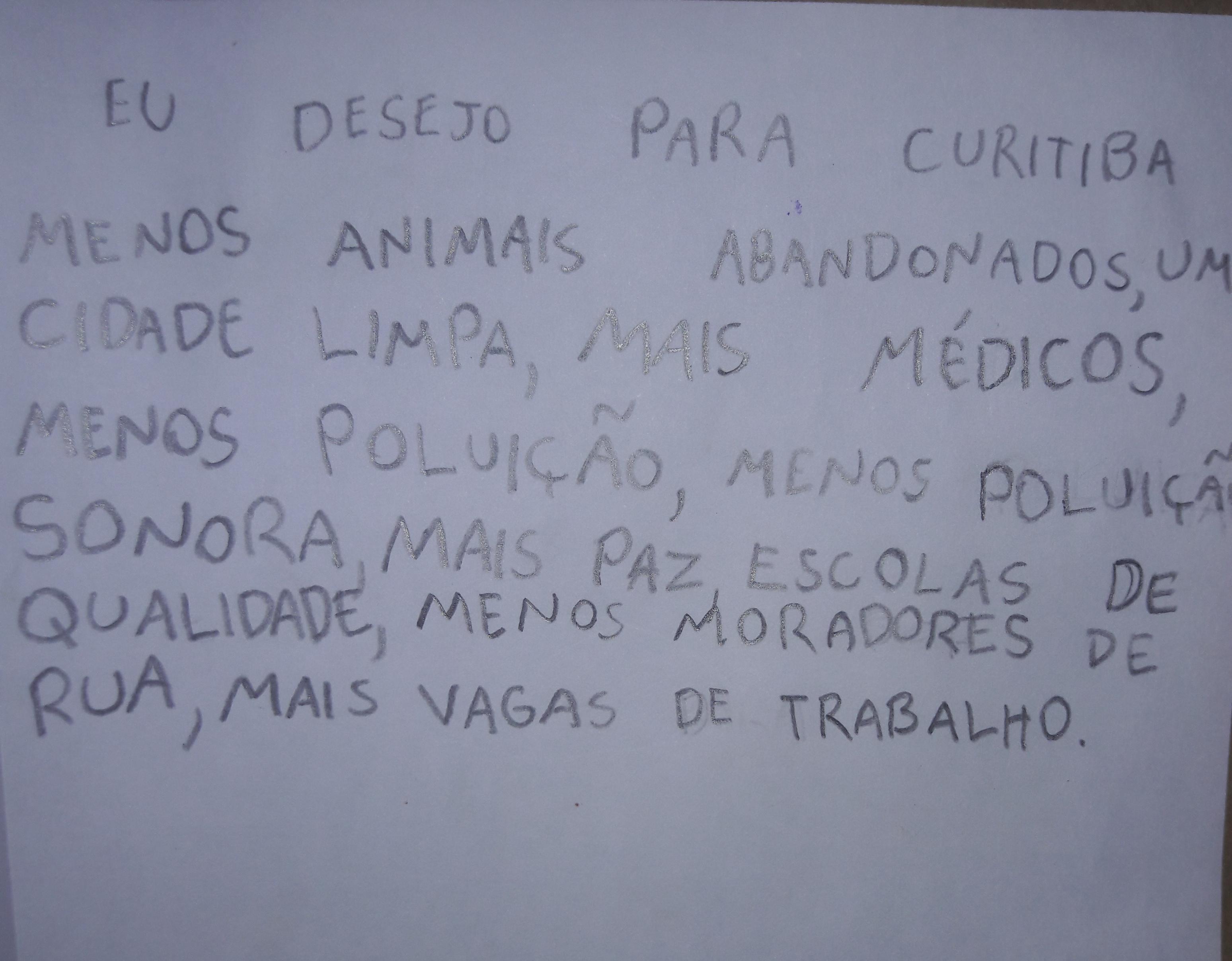Produção de texto sobre Curitiba- Maria Clara 4º ano B